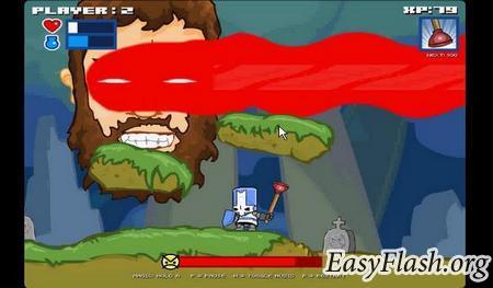 Castle Сrashing The Beard - замочи летающую голову!