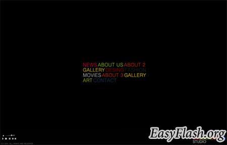 Шаблон сайта Flash template  Myflashxml cl1b