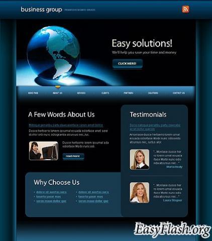 Шаблон бизнес тематики