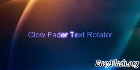 XML Glow Fader Text Rotator