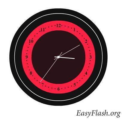 Flash часы (полностью кодом)