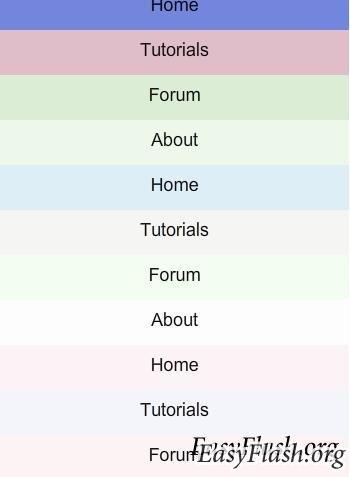Красочное меню с помощью XML и ActionScript 3.0