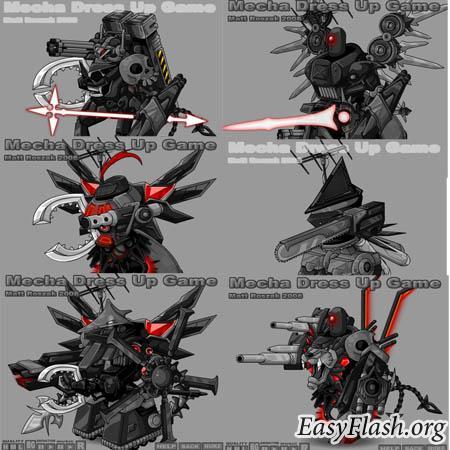 flash креатив: Создай собственную боевую машину-трансформера! Десятки тысяч вариантов!