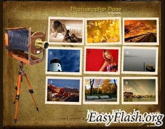 Заготовка для сайта фотографа
