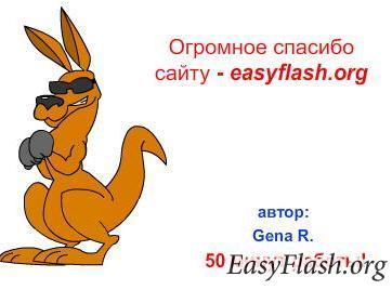 Моя первая нормальная flash'ка - Кенгуру